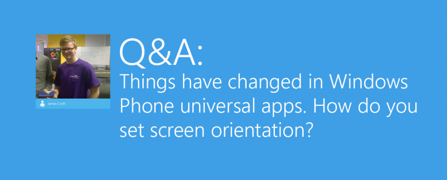 Universal Screen Orientation