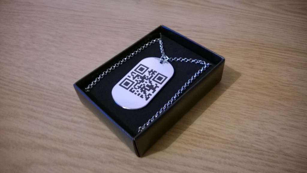 QR Dog Tag Necklace