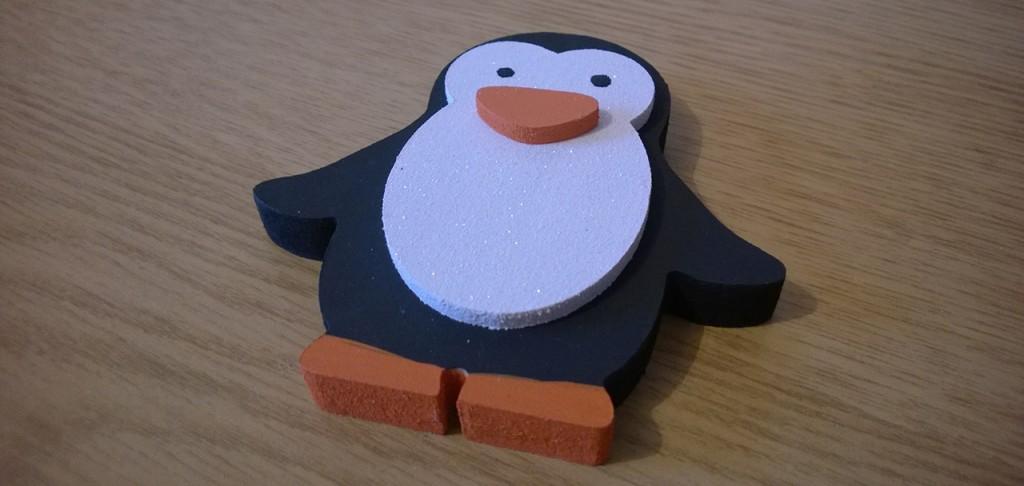 Wooden Penguin Decoration