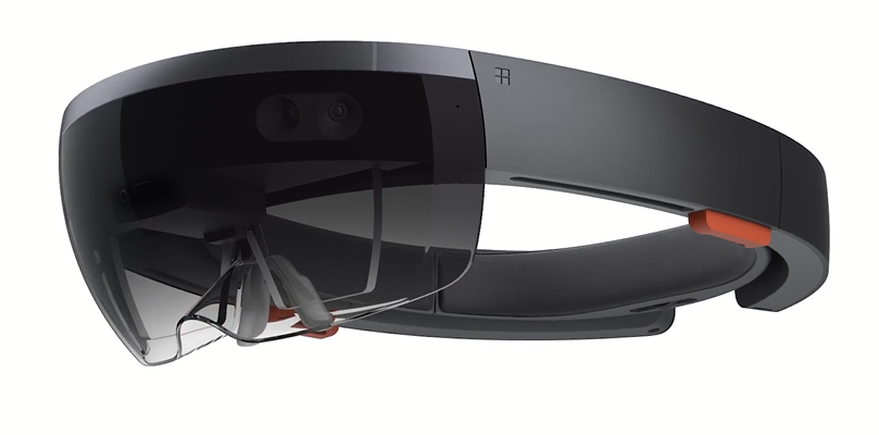 Welcome to the future. Microsoft HoloLens.