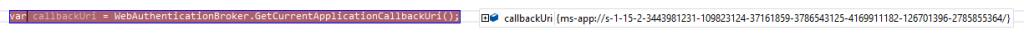 Callback Uri