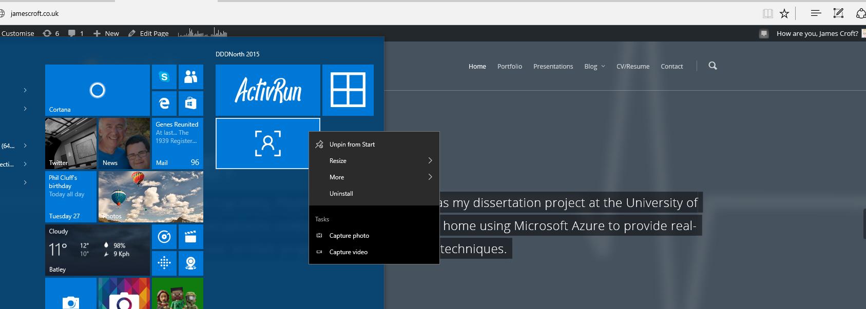 Windows 10 Jumplist